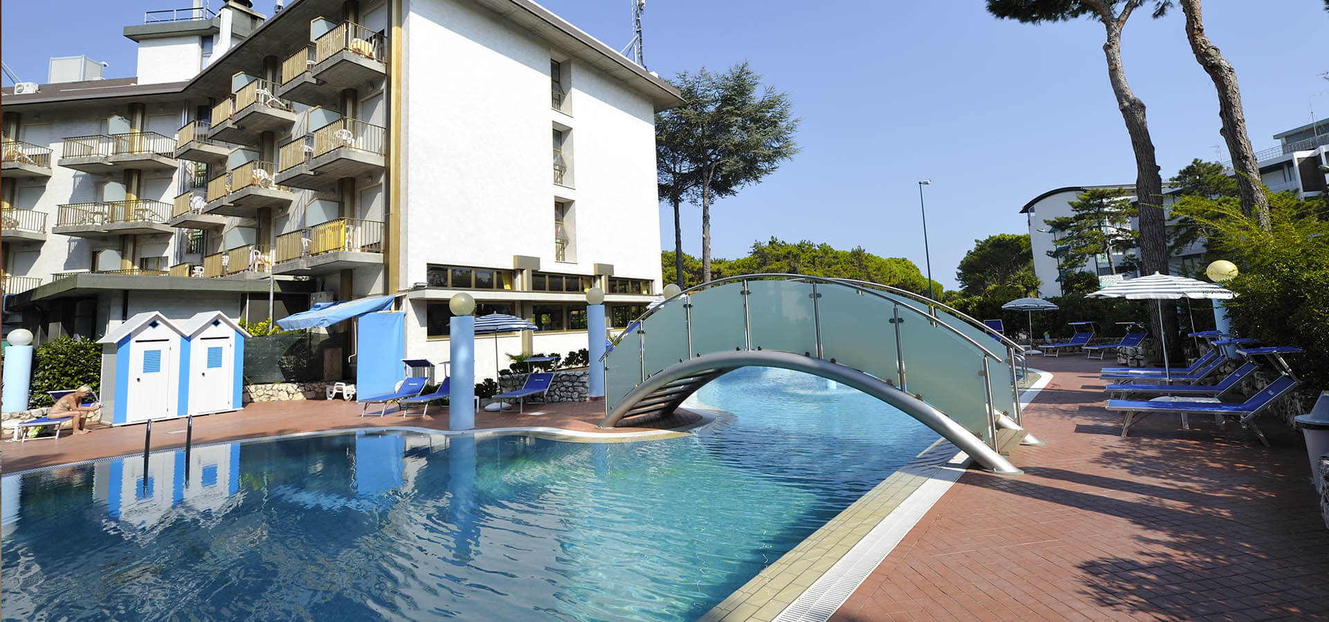 hotel with pool in Lignano Riviera